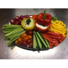 Vegetarische groente dipschaal